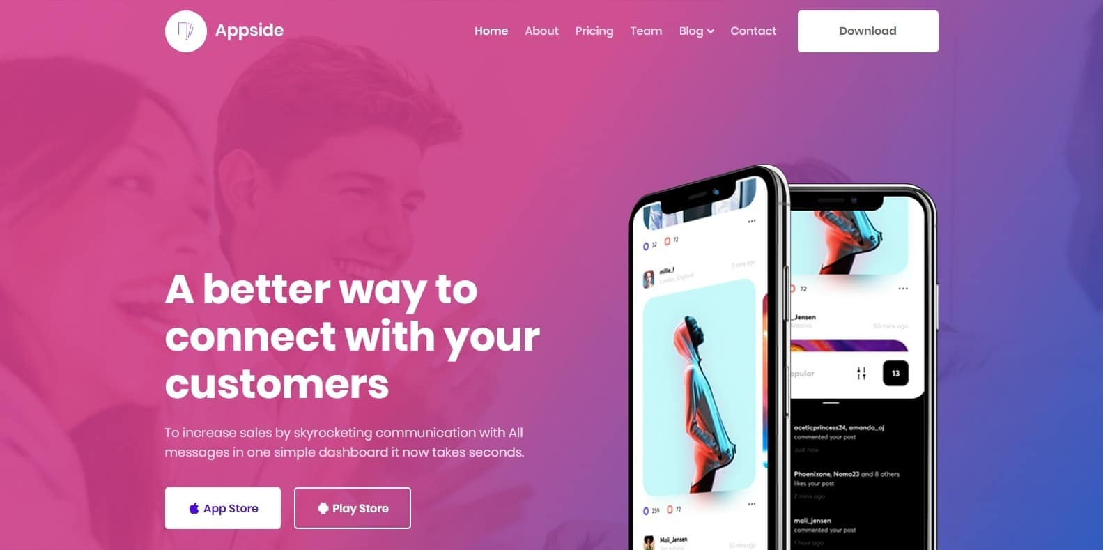appside-landing-page-template