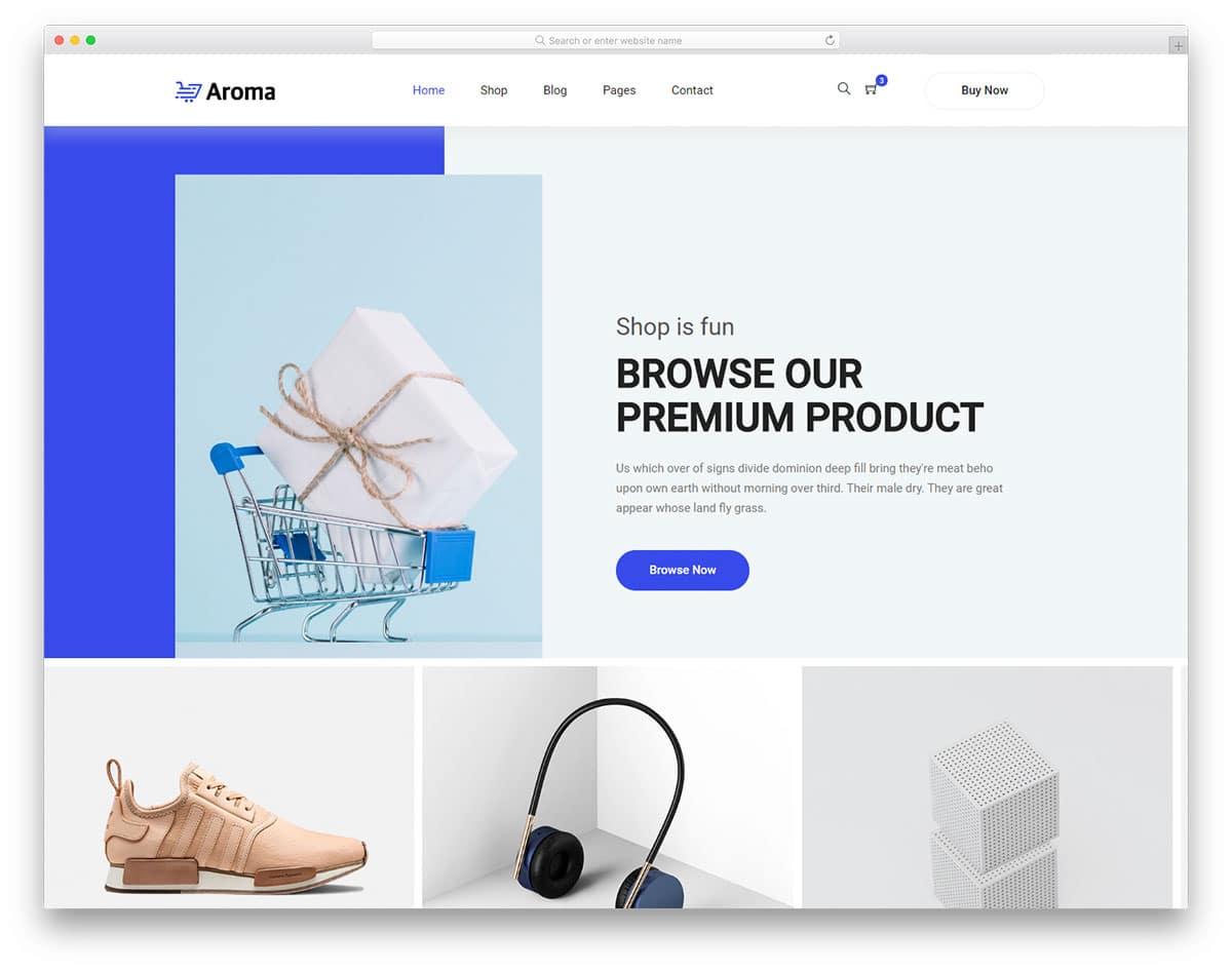 aroma-free-fashion-website-templates