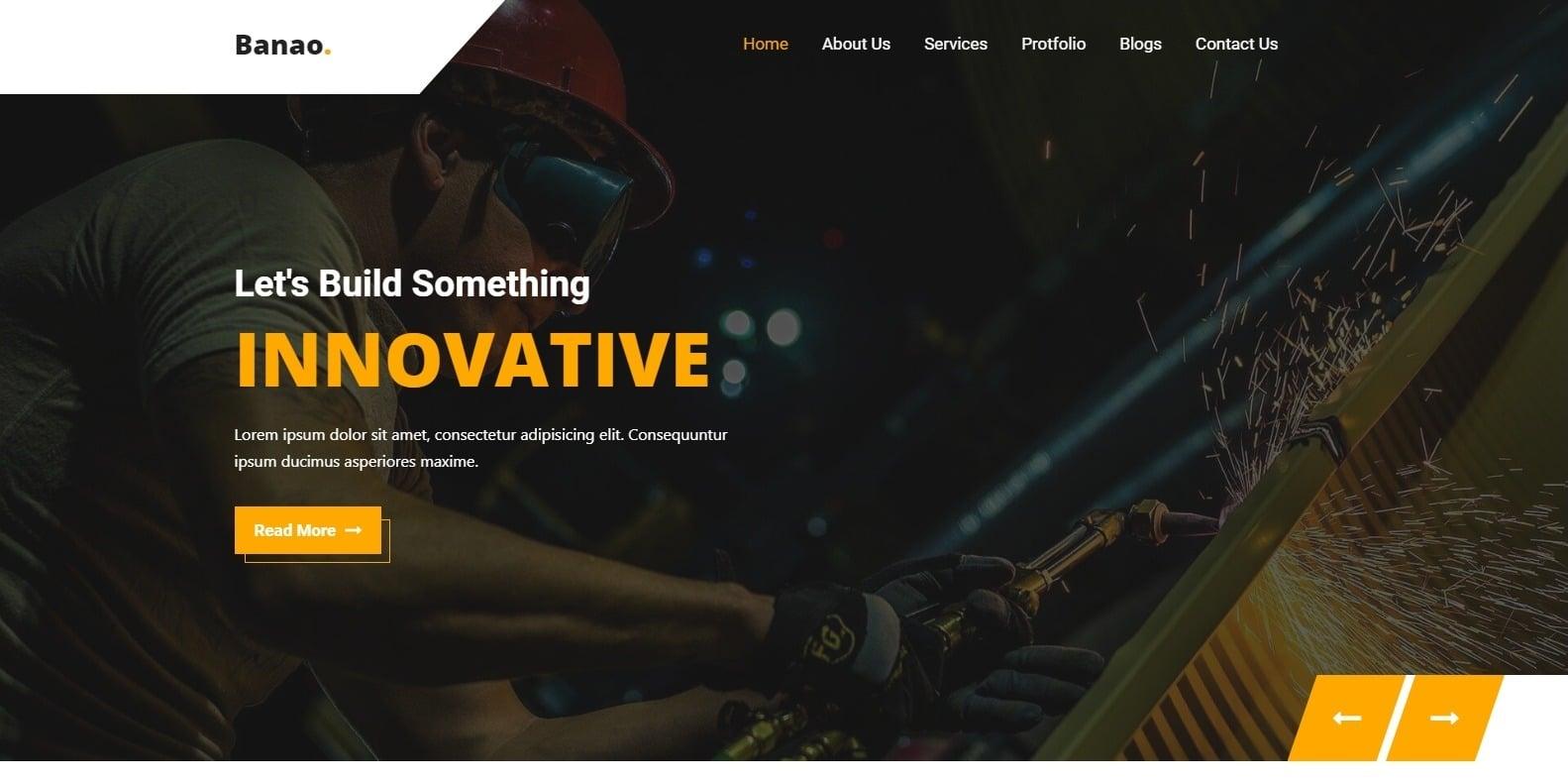 banao-construction-website-template