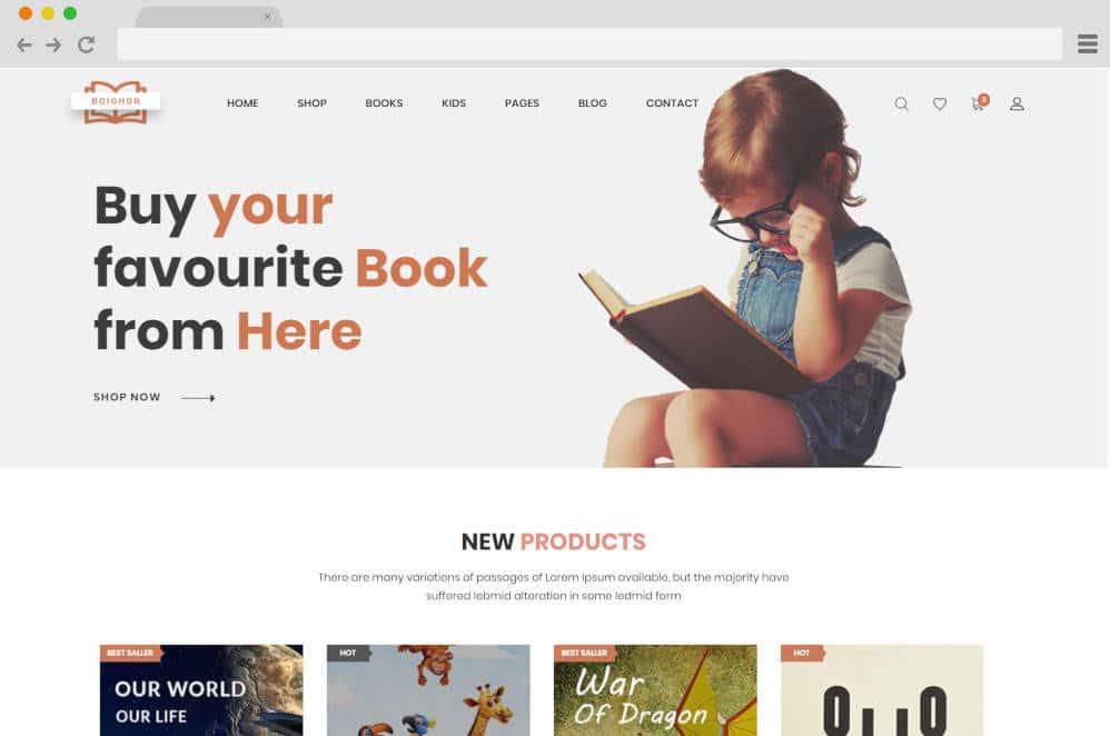 boighar author website templates