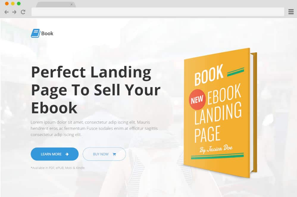 book author website templates