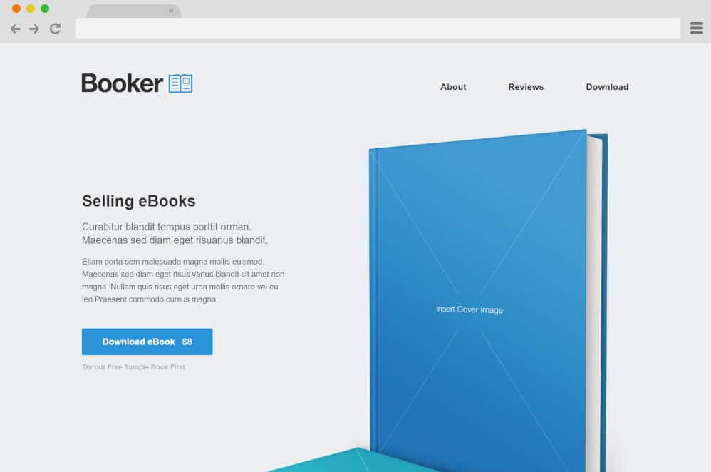 booker author website templates