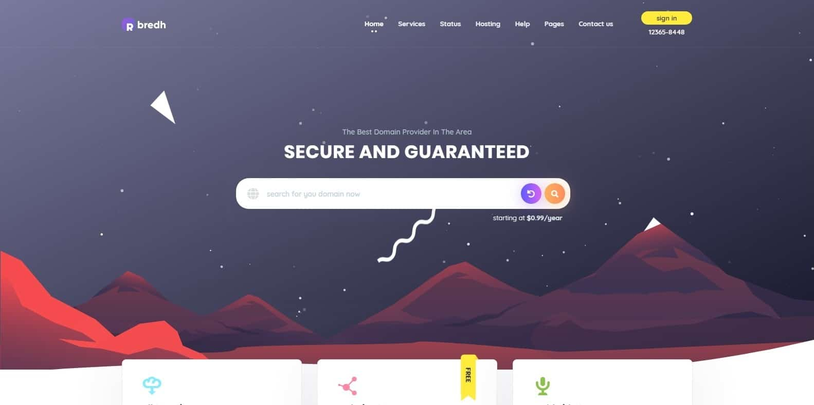 bredh-bootstrap-hosting-template