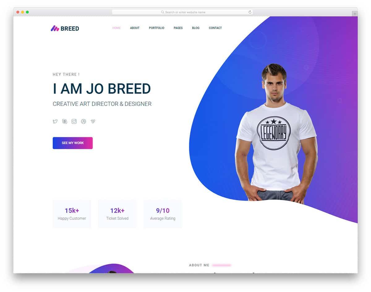 breed2-free-bootstrap-portfolio-templates