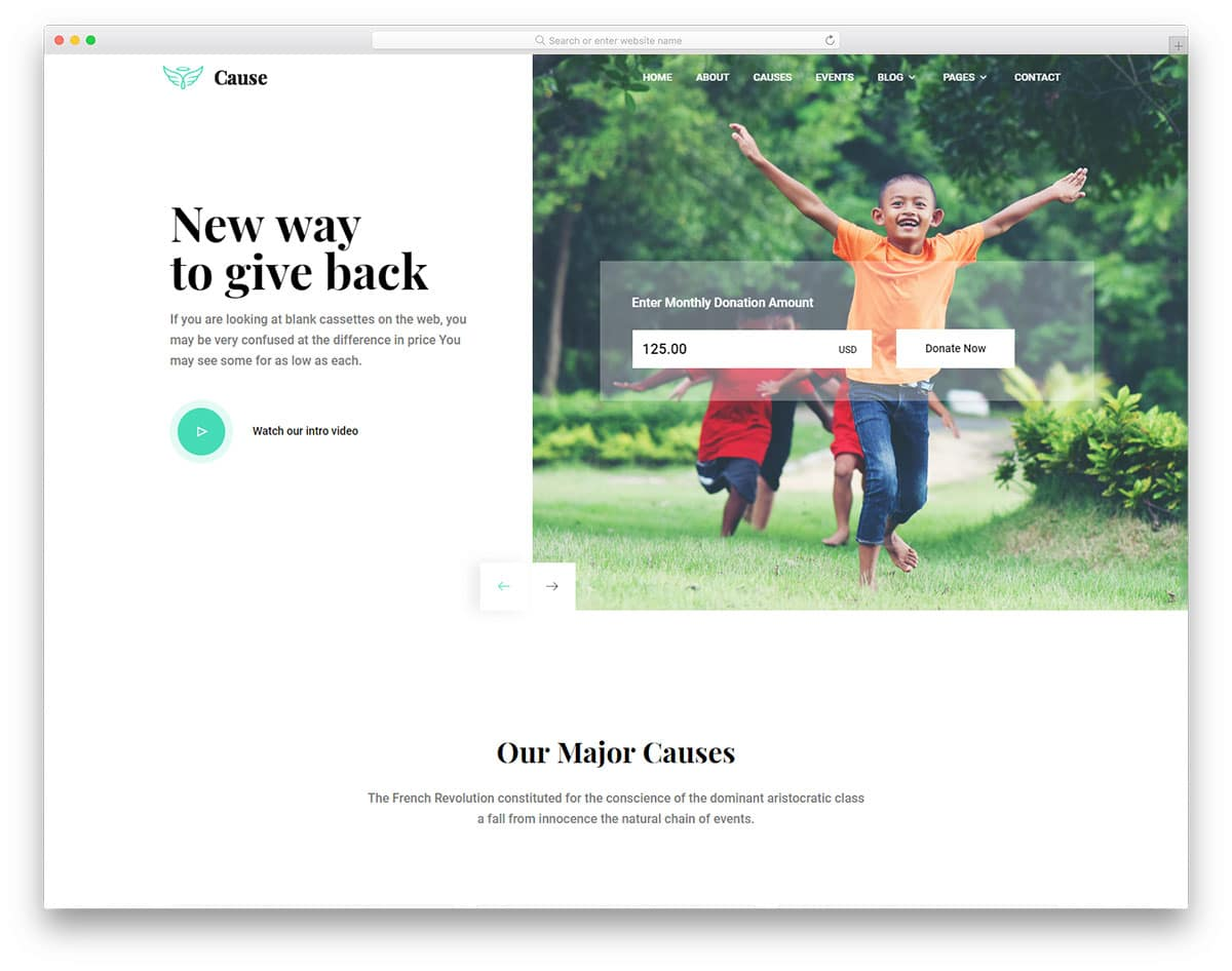 cause-free-church-website-templates