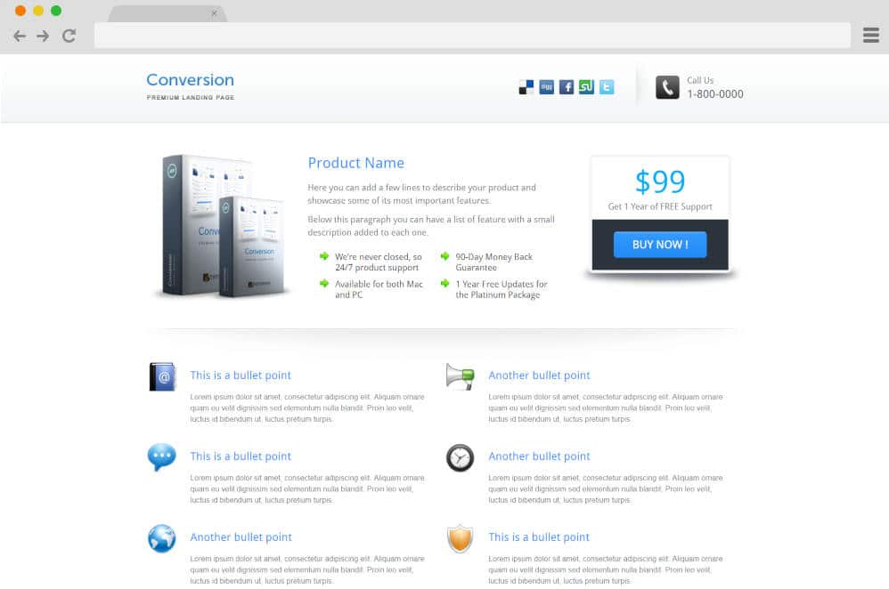 conversion website templates