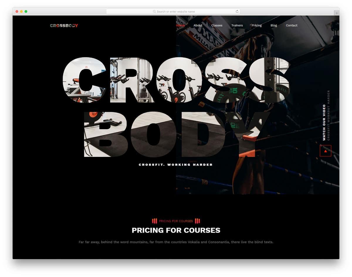 crossbody-free-fitness-website-templates