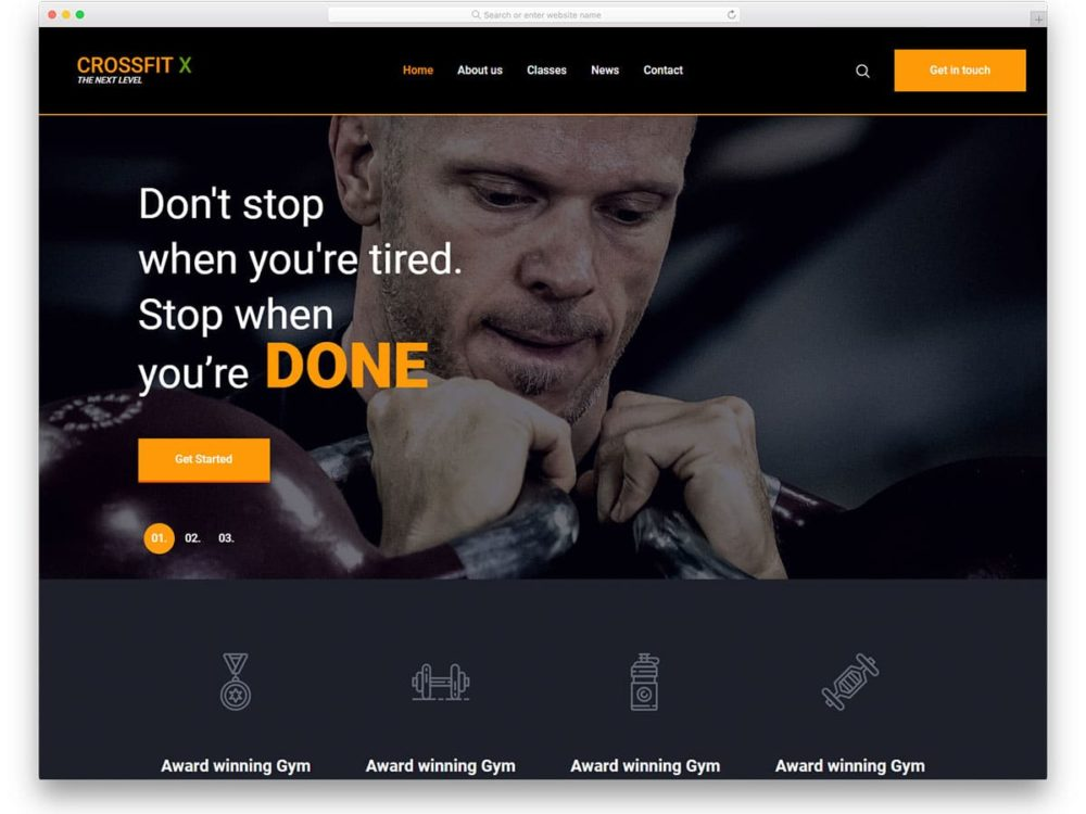 crossfit-free-sports-website-templates