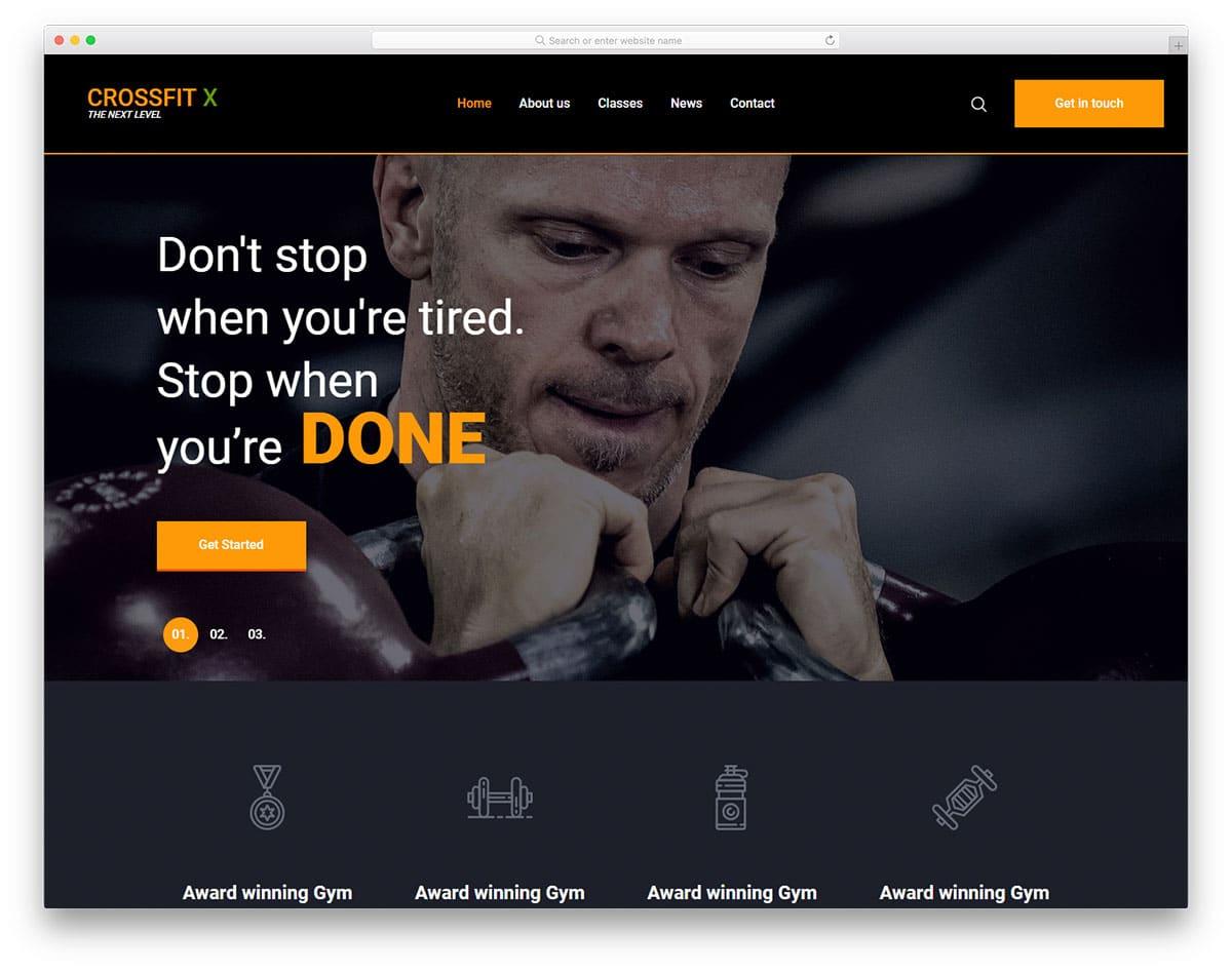 crossfit-free-sports-website-templates