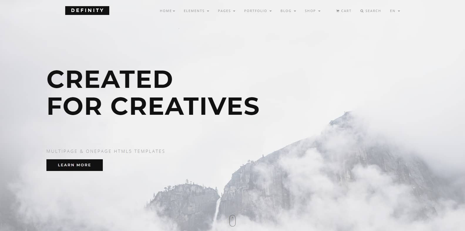 definity-photography-website-template