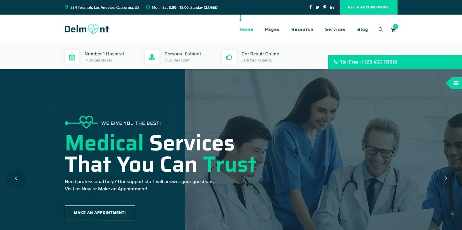 delmont-medical-templates-html