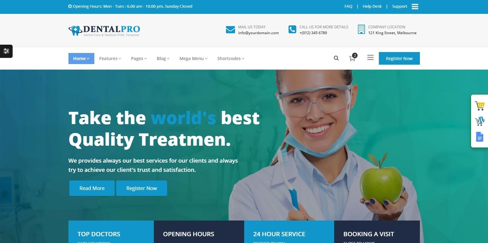 dentalpro-medical-templates-html