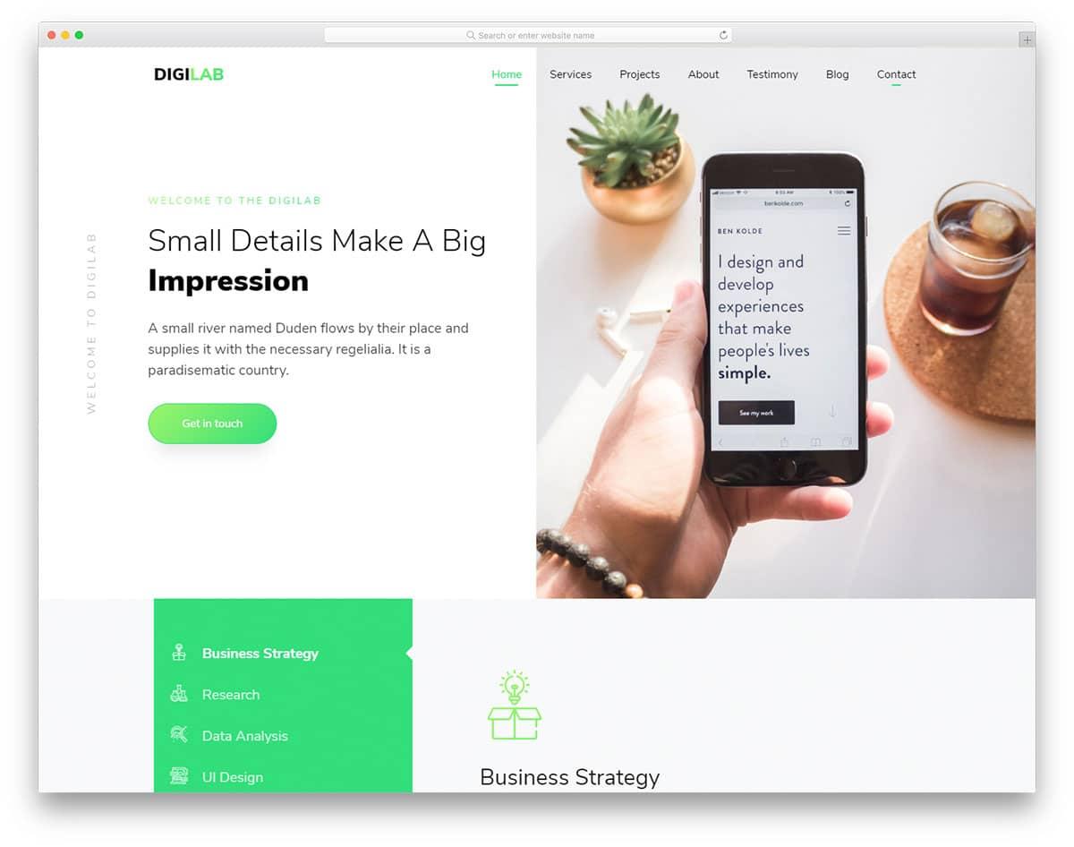 digilab-free-clean-website-templates