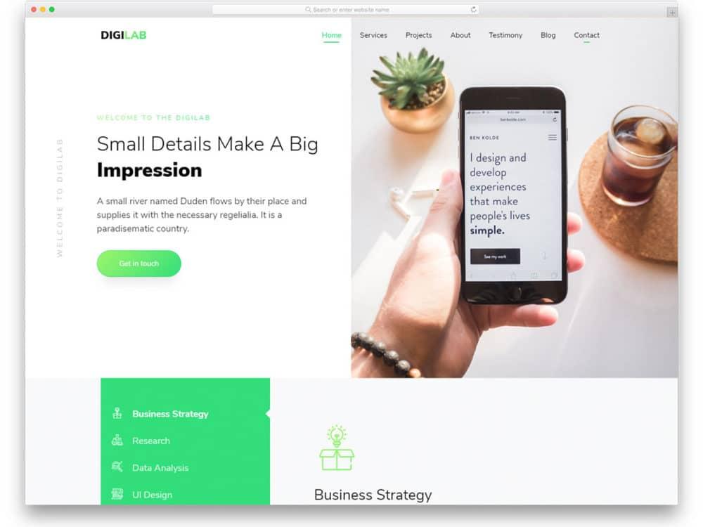 digilab-free-minimal-website-templates