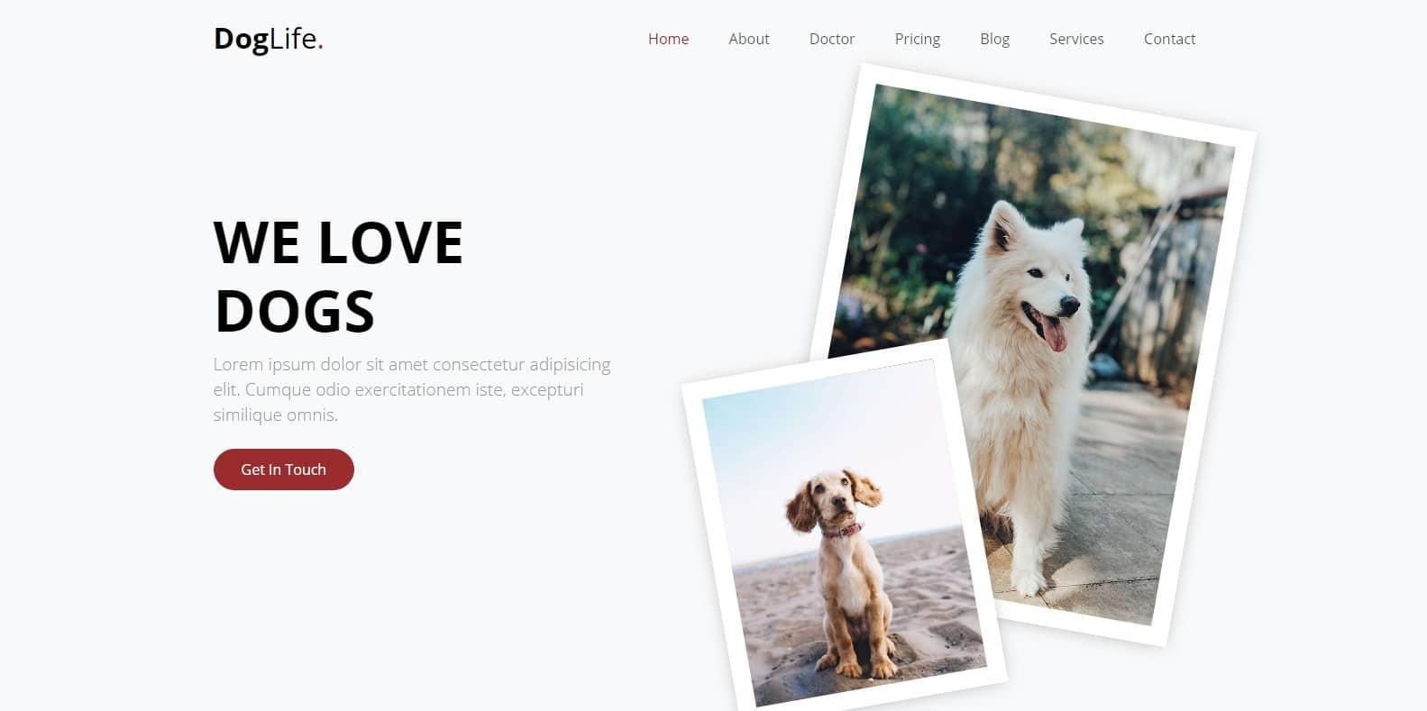 doglife-animal-website-template