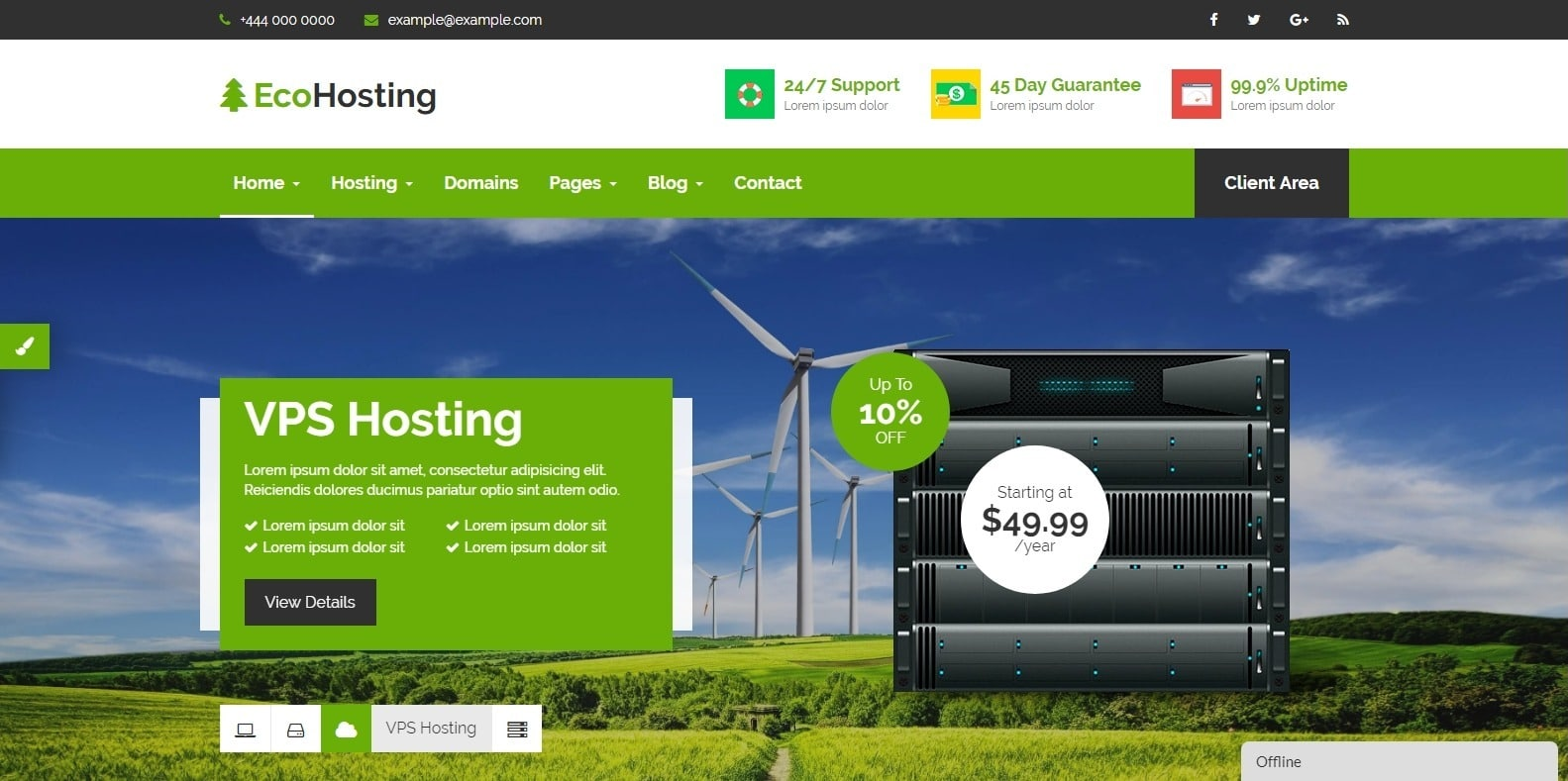 ecohosting-bootstrap-hosting-template
