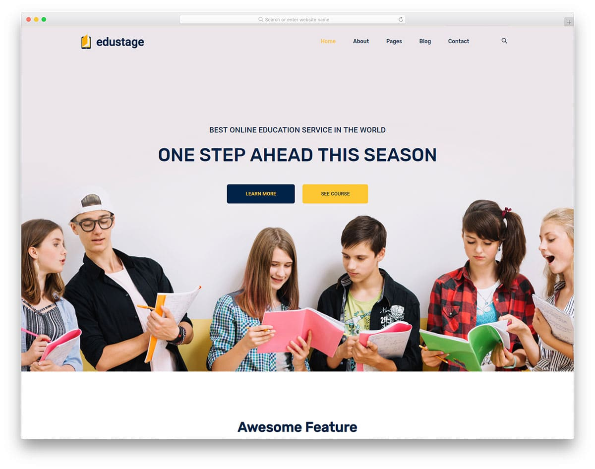 29 Free Bootstrap School Templates For Students In Digital