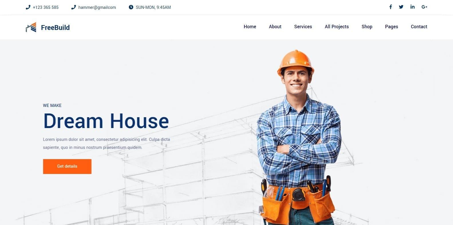 freebuild-construction-website-template