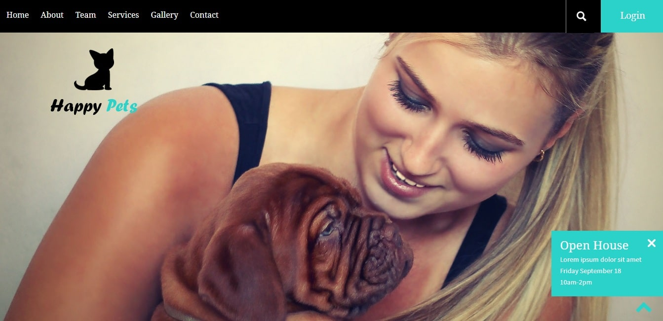 happy pets animal and pets website template