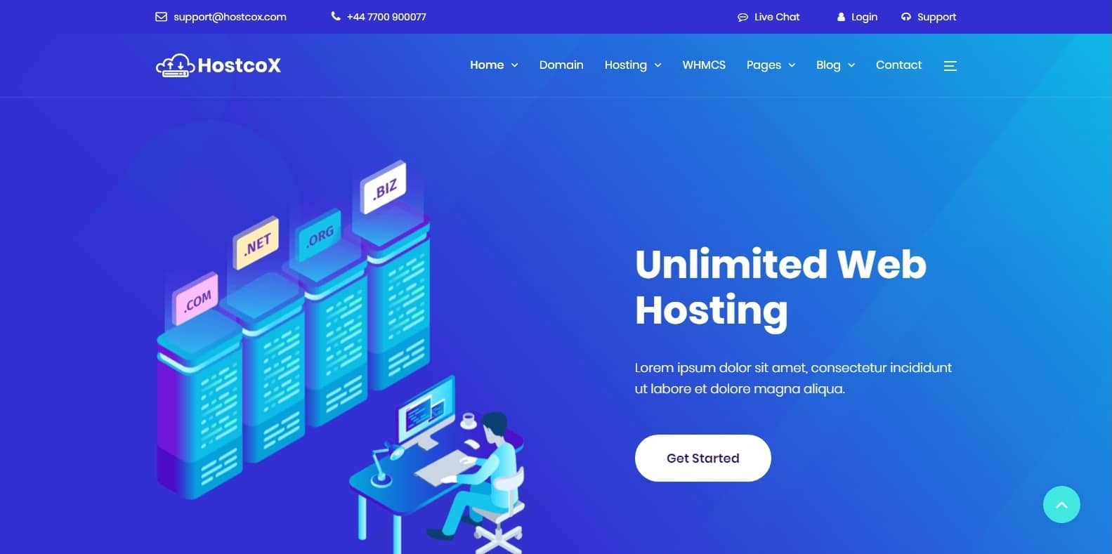 hostcox-bootstrap-hosting-template