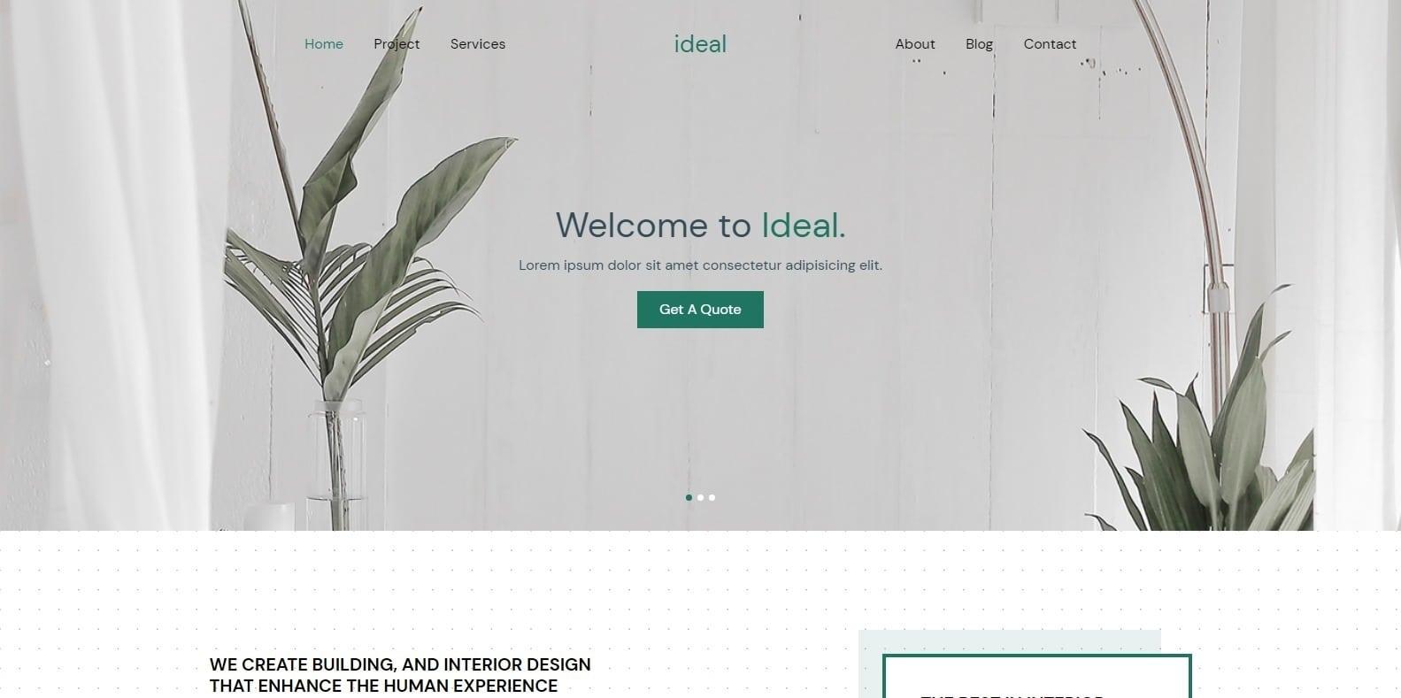 ideal-simple-website-template