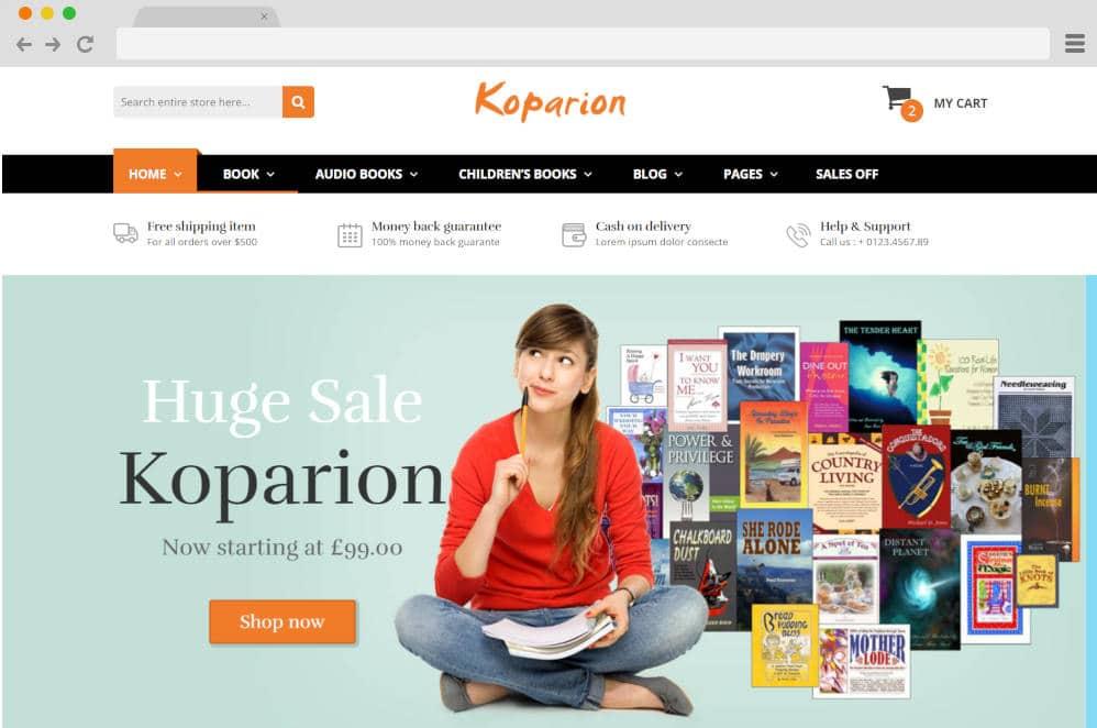 koparion author website templates