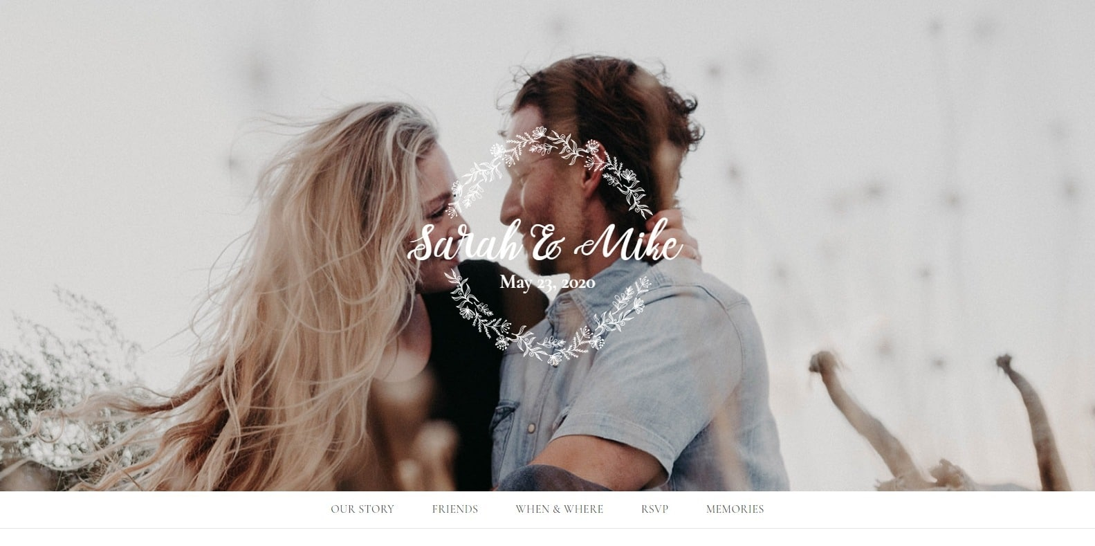 l'amore-wedding-website-template