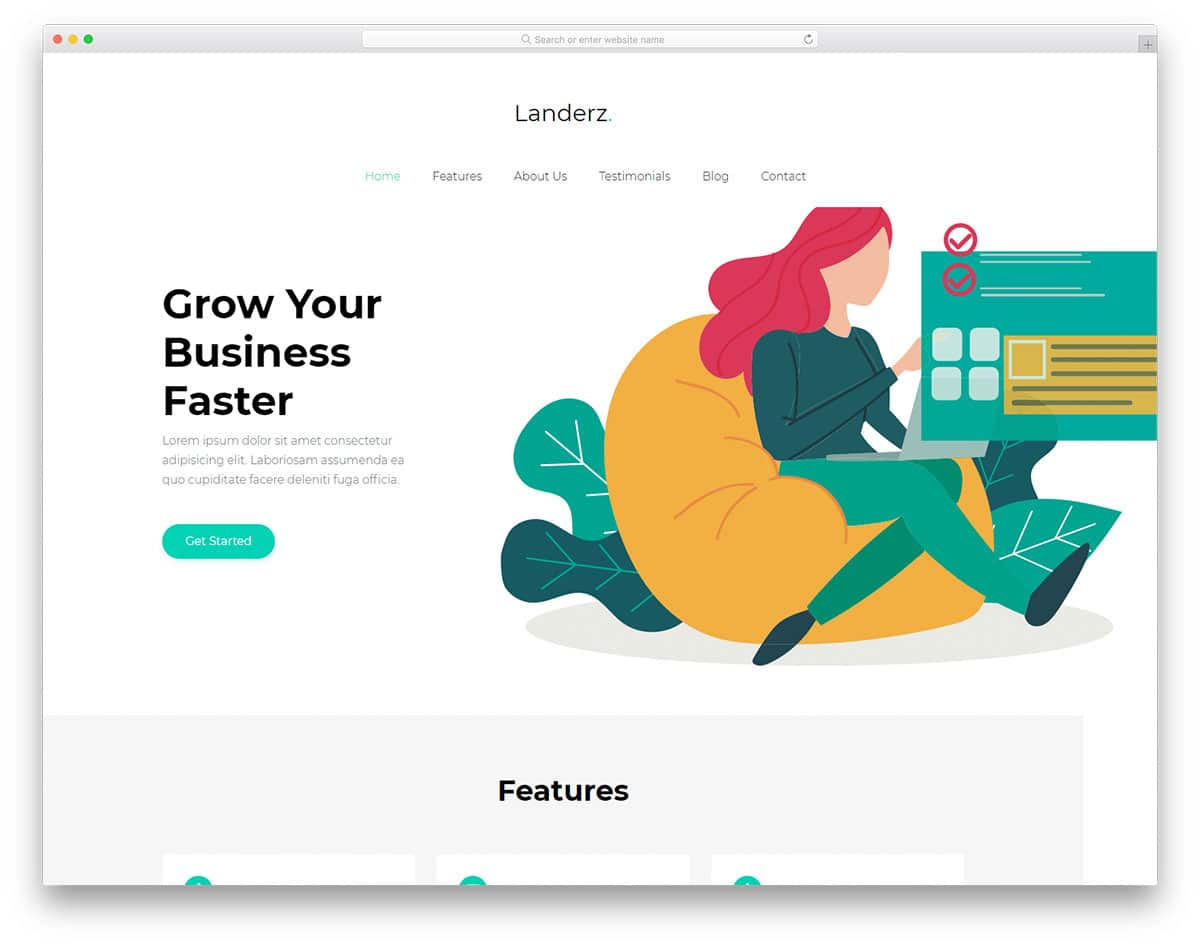 landerz-free-bootstrap-business-templates