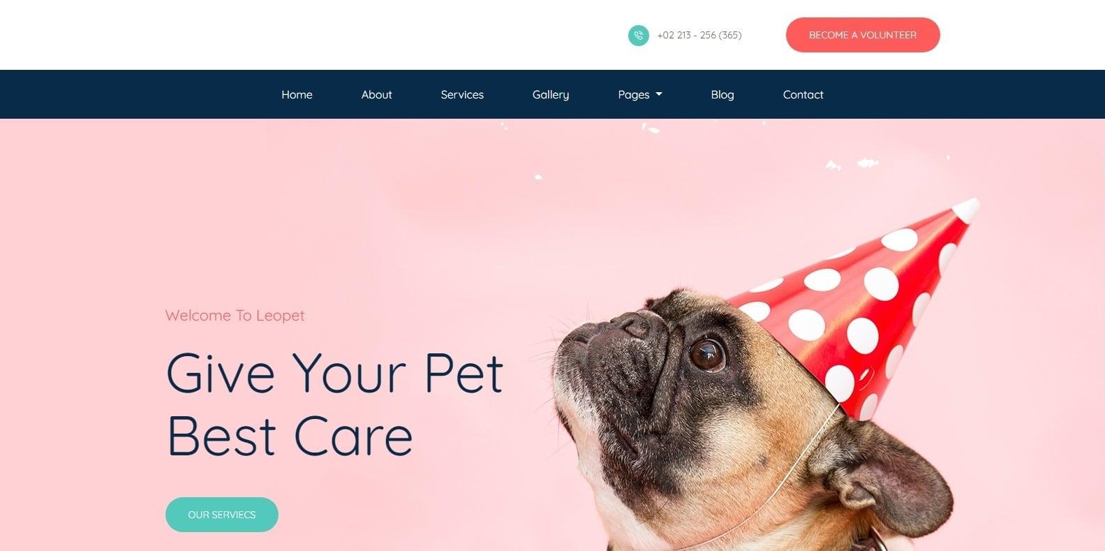 leopet-animal-website-template