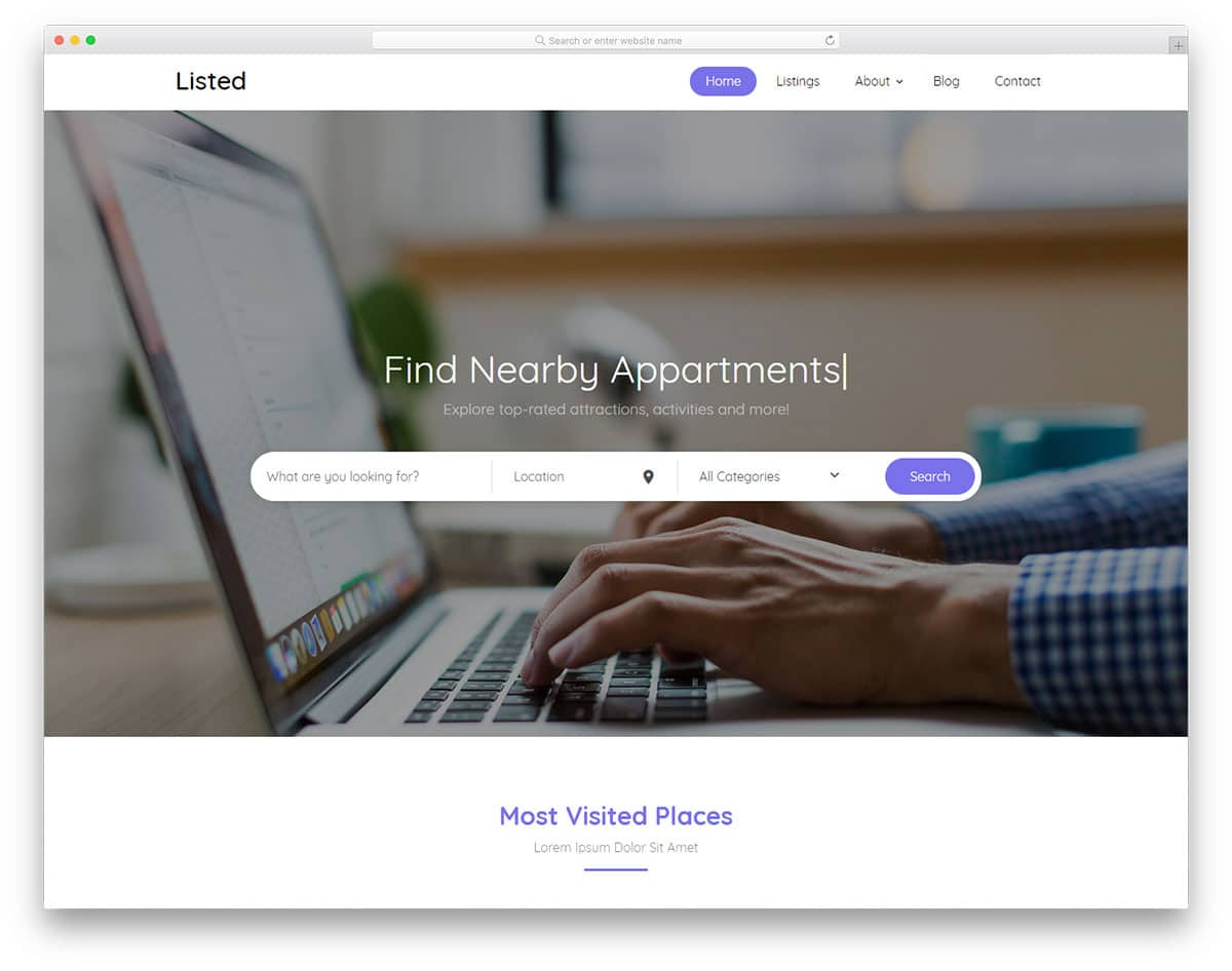 33 Free Clean Website Templates With Pristine Design 2019 - uiCookies