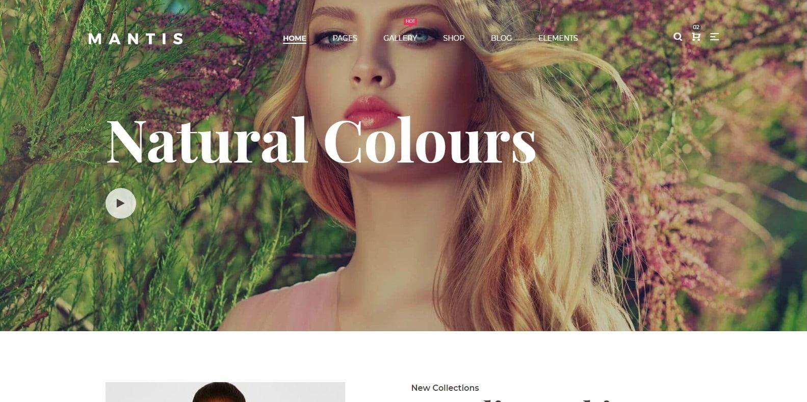 mantis-simple-website-template