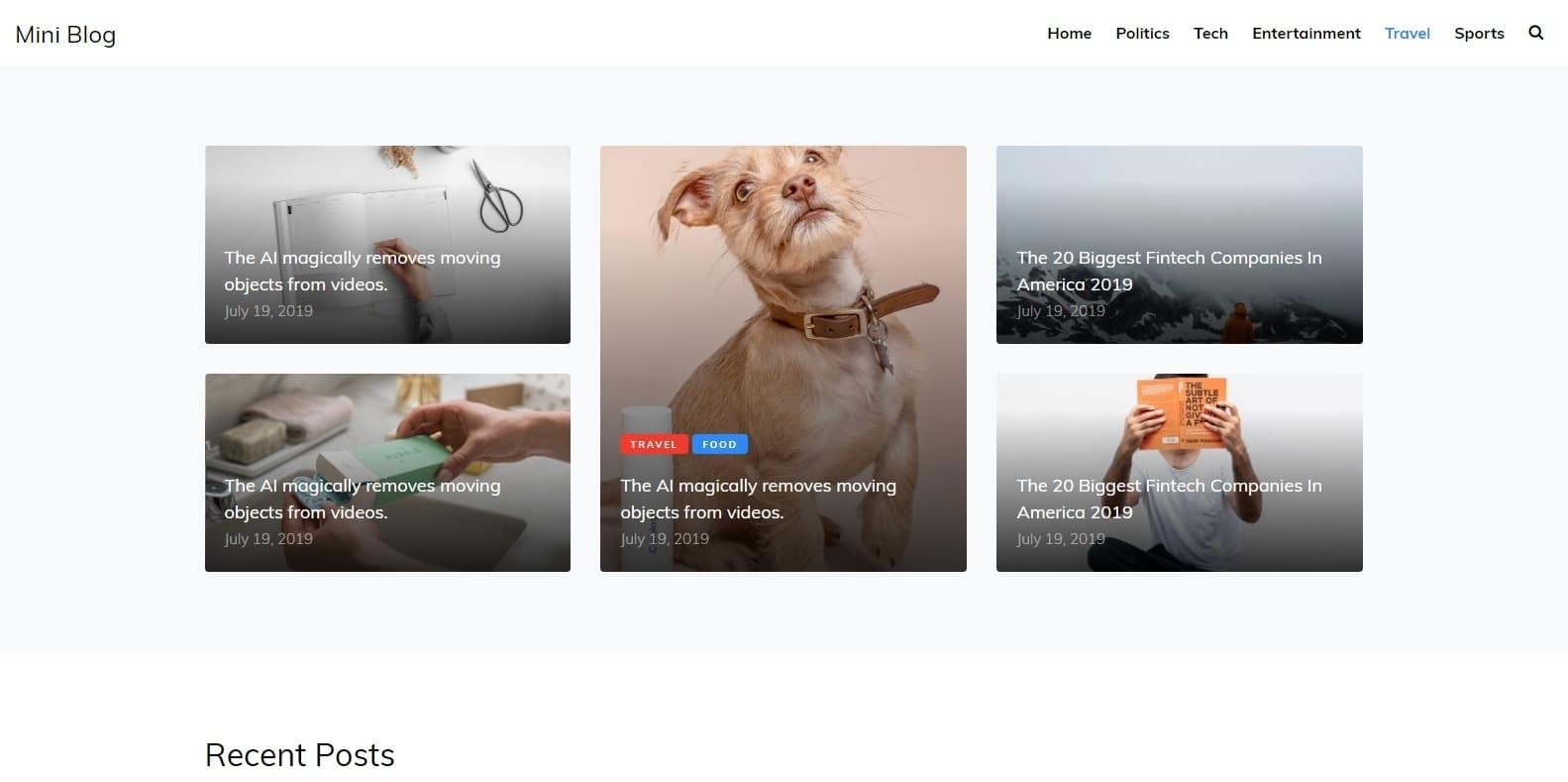 miniblog-simple-website-template