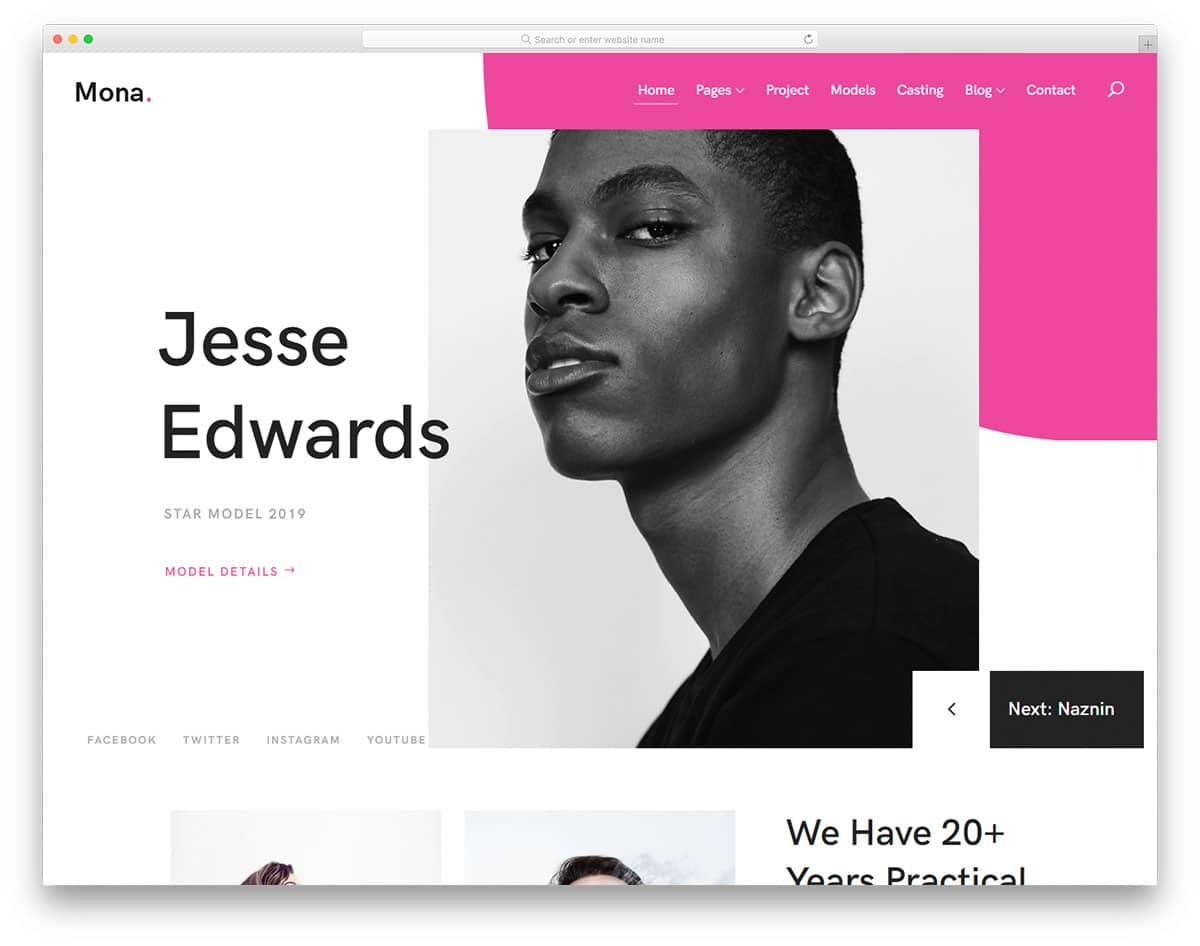 mona-free-bootstrap-personal-website-template