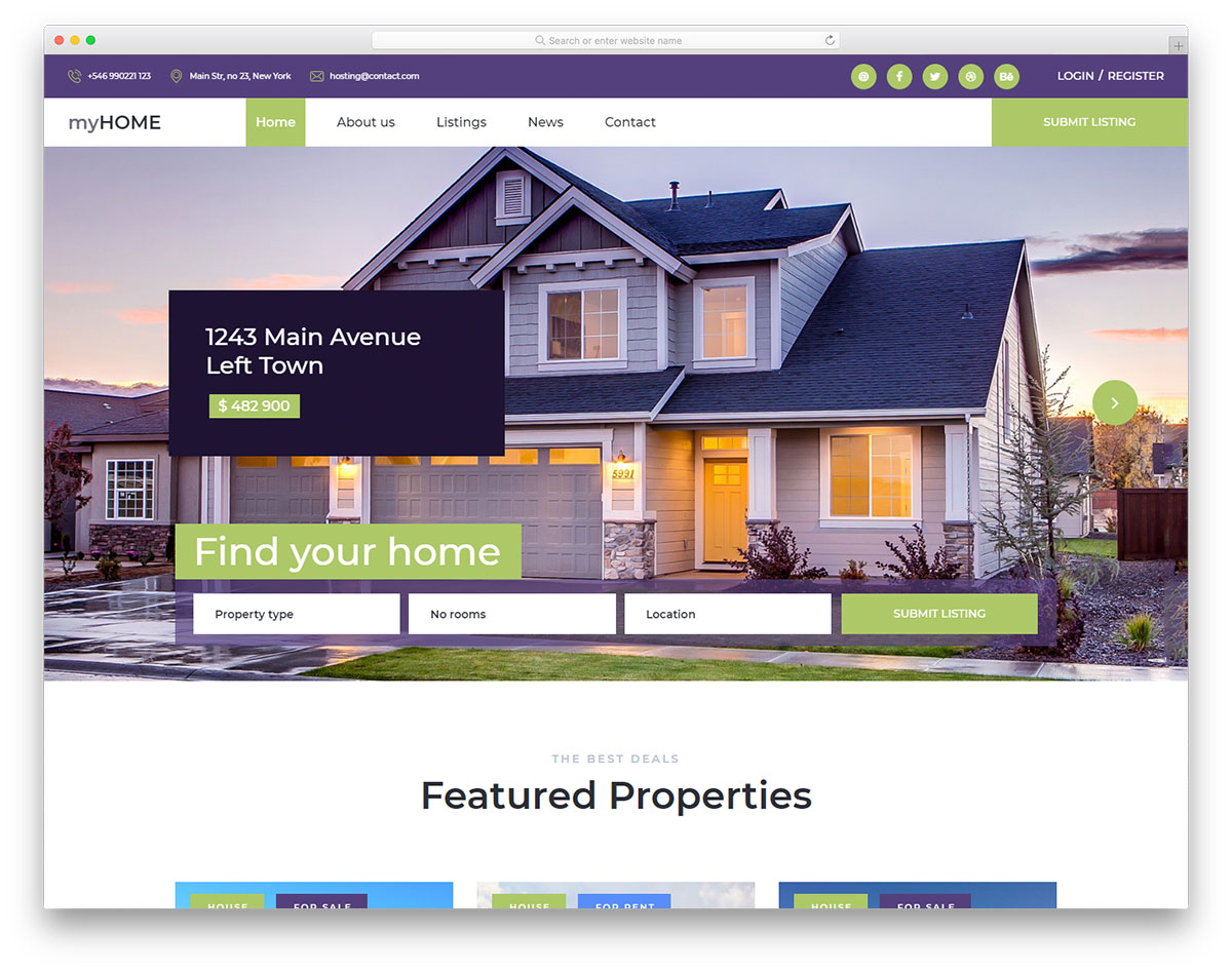 myhome-free-real-estate-website-templates