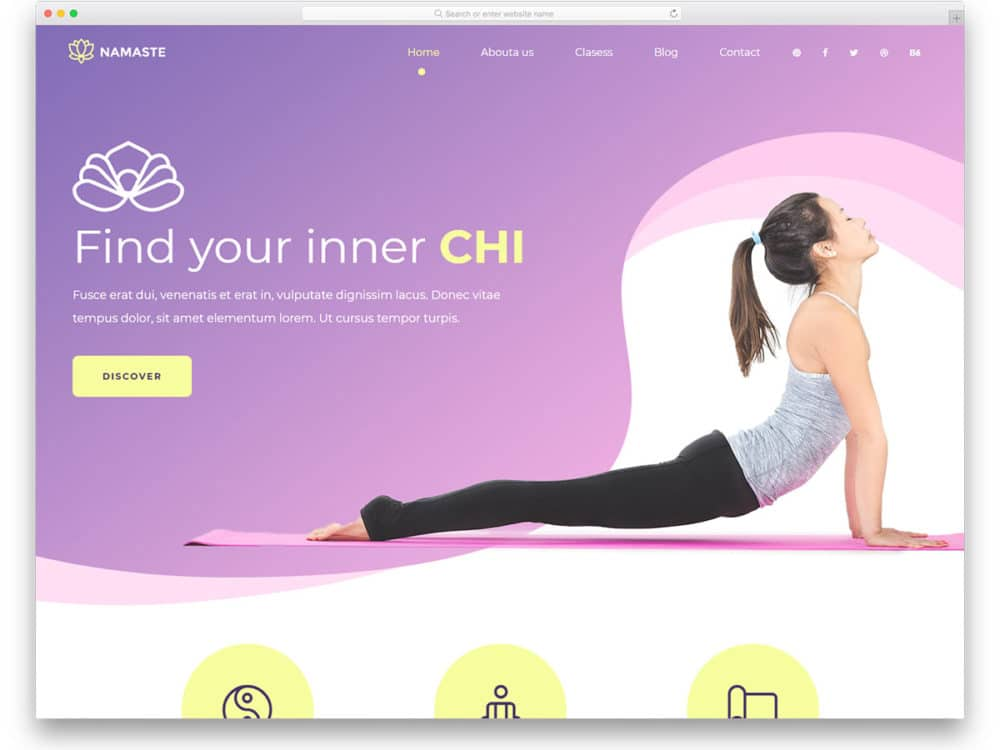 24 Best Free Yoga Website Templates For Yoga Studios 2019 - uiCookies