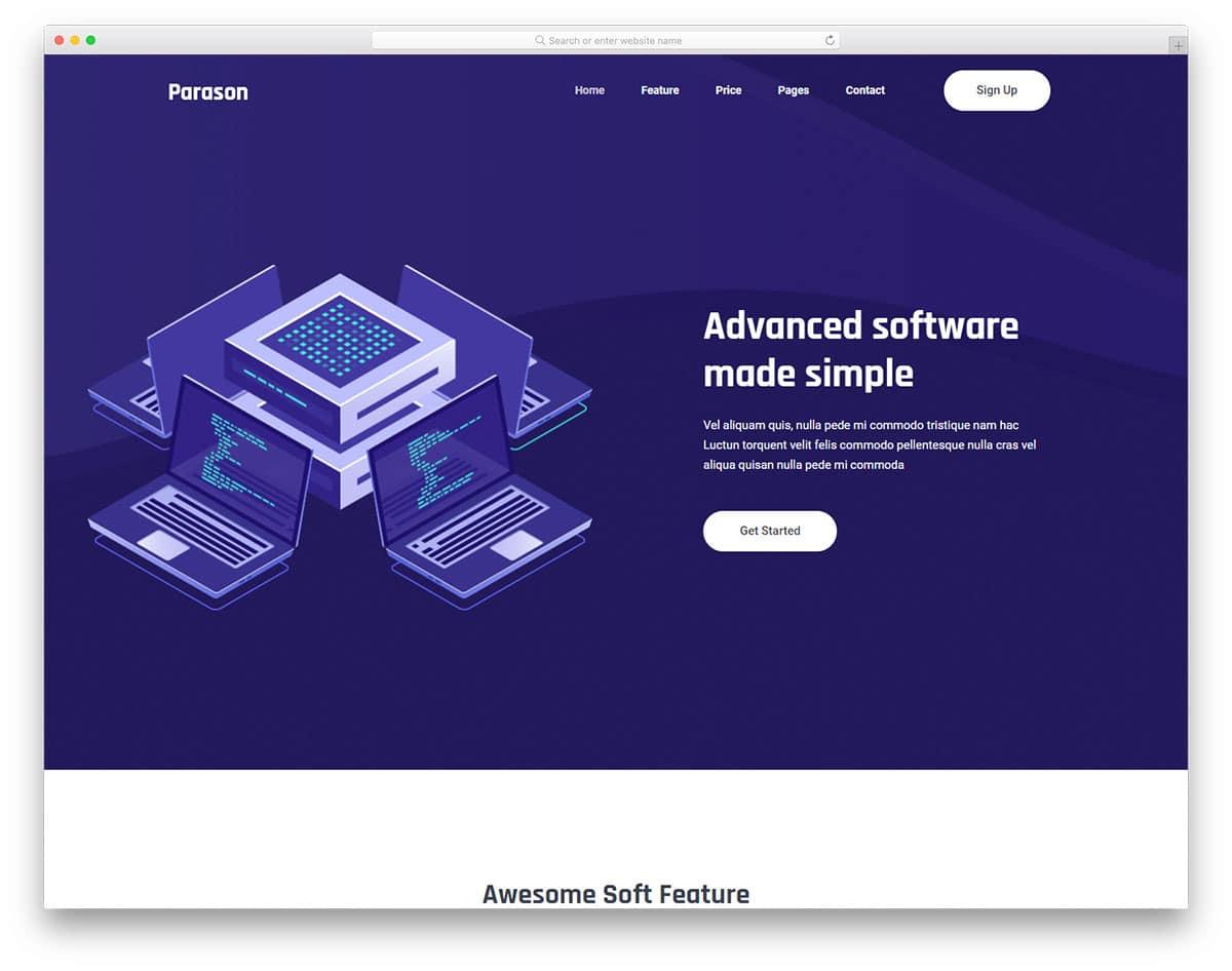 parason-free-hosting-website-templates