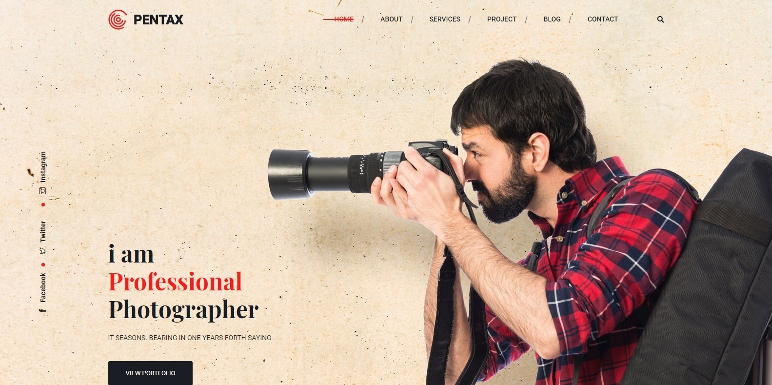 pentax-gallery-website-template