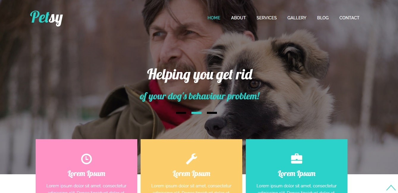 petsy animal and pets website template