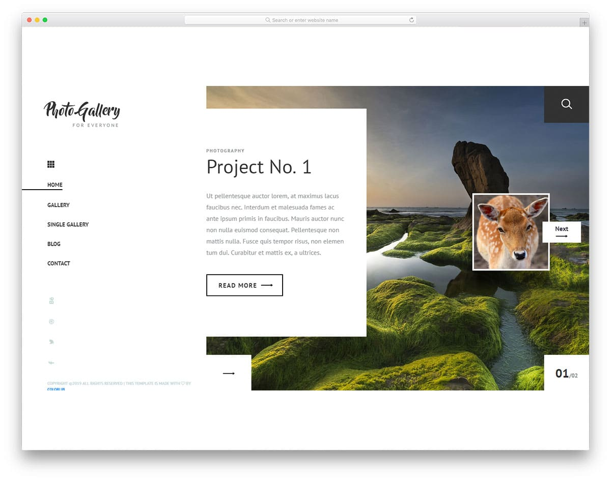 photogallery-free-bootstrap-personal-website-template