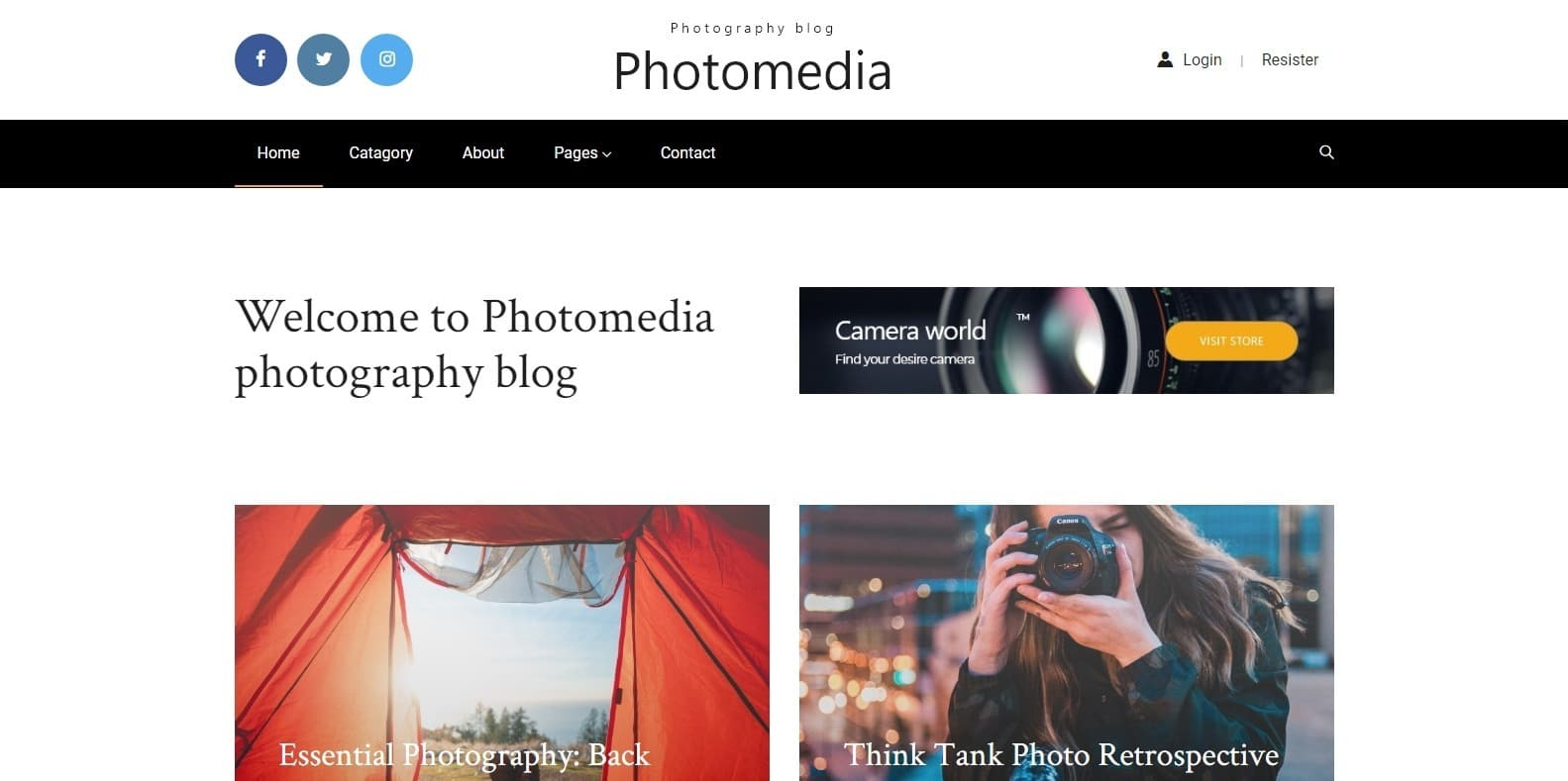 photomedia-gallery-website-template