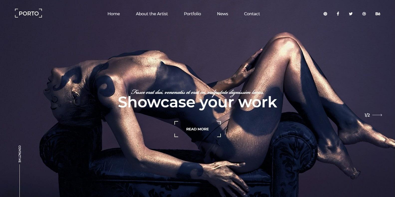 porto-gallery-website-template