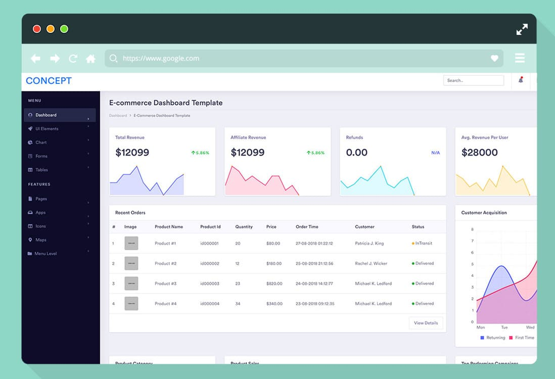 36 Free Bootstrap Admin Dashboard Template For A Powerful Interface