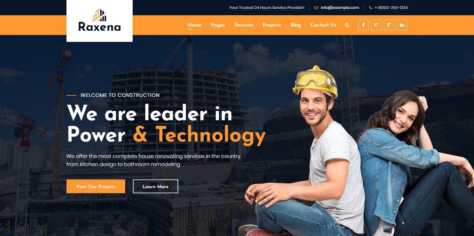 raxena-construction-website-template