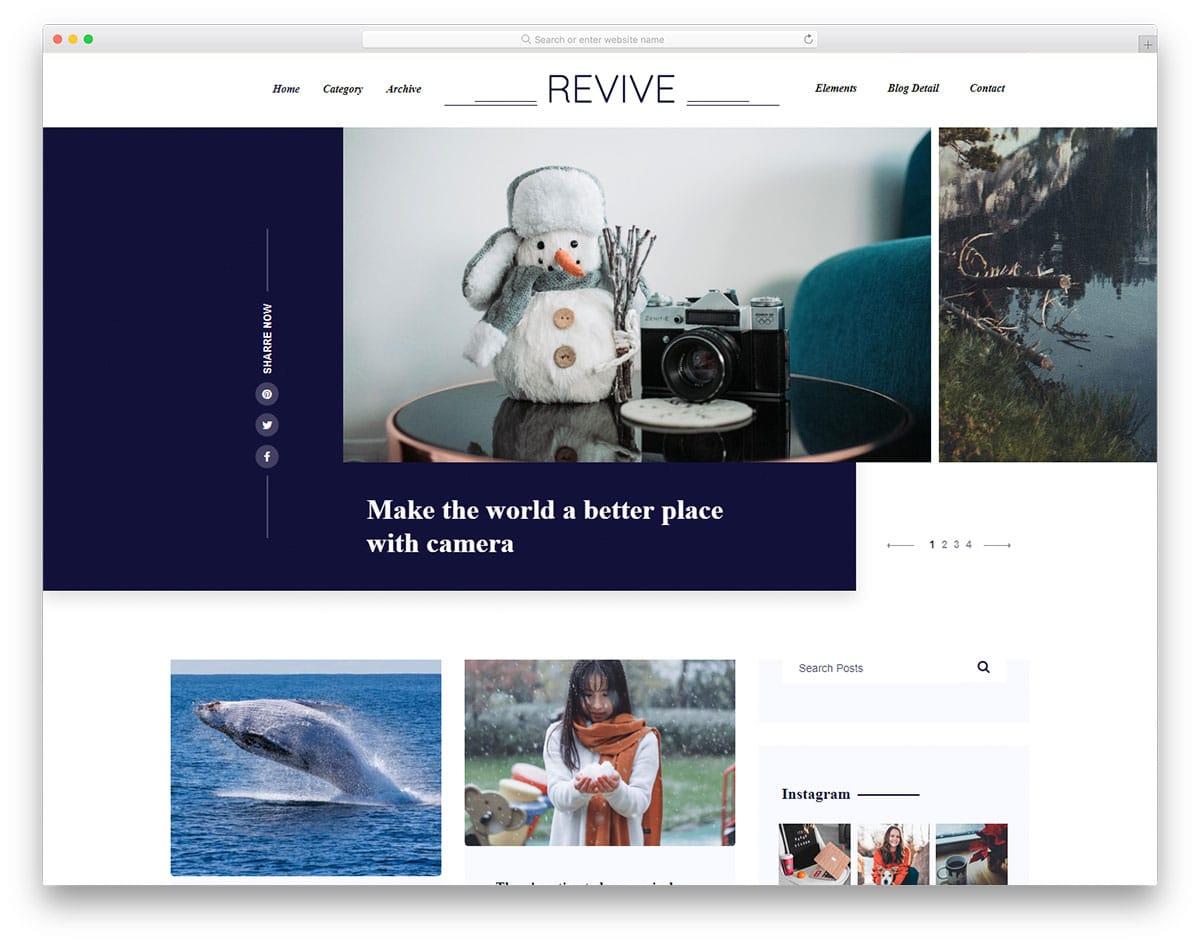 revive-free-news-website-templates