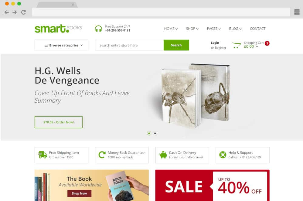 smartbooks author website templates