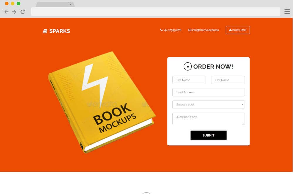 sparks author website templates