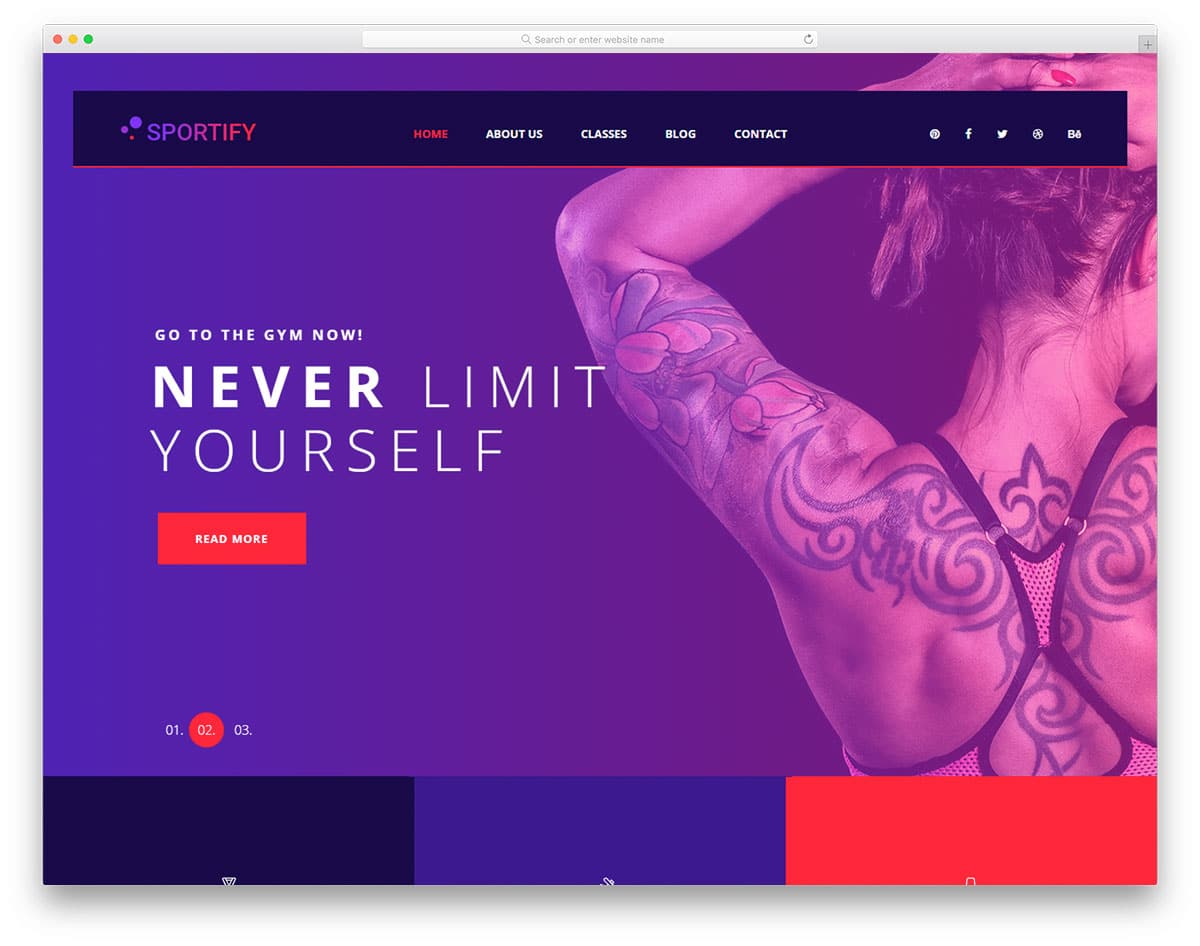 sportify-free-yoga-website-templates