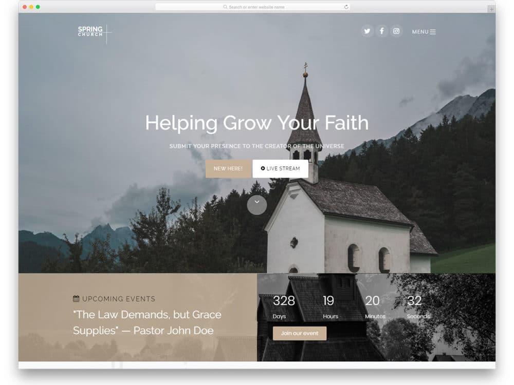 26 Best Free Church Website Templates To Preach Gospel