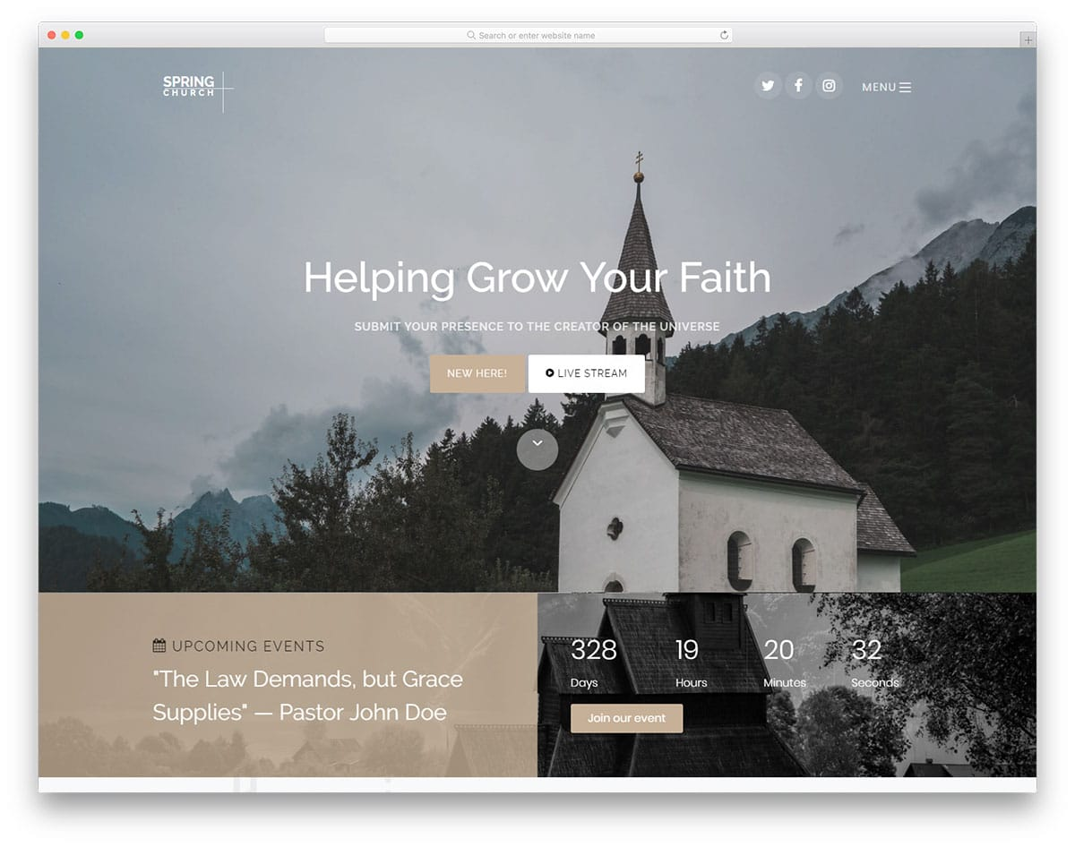 spring-free-church-website-templates