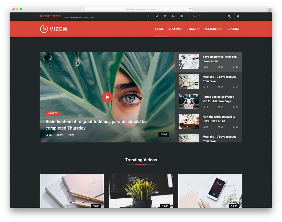 vizew-free-magazine-website-templates